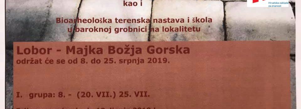 Obavijest studentima o terenskoj nastavi (Lobor – Majka Božja Gorska 2019.)